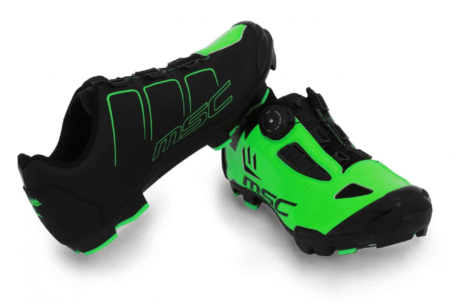 MSC Bikes Aero Road Chaussures Cyclisme, Vert, t-42